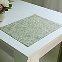 tanie Dekoracyjne naklejki-Zwyczajny Miesznaka Poliestru i Lnu Kwadrat Podkładki Dekoracje stołowe
