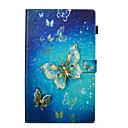 preiswerte Taschen/Hüllen-Hülle Für Amazon Geldbeutel mit Halterung Flipbare Hülle Muster Automatisches Schlafen/Aufwachen Ganzkörper-Gehäuse Schmetterling Hart