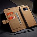 hesapli Ekranlar-Pouzdro Uyumluluk Samsung Galaxy S8 Plus / S7 edge Cüzdan / Kart Tutucu / Satandlı Tam Kaplama Kılıf Solid Sert PU Deri için S8 Plus / S8 / S7 edge