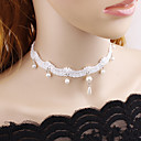 cheap Beads & Beading-Women's Choker Necklace - Lace Floral / Botanicals, Flower European, Fashion White, Black Necklace For Wedding, Party / Evening