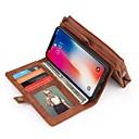 baratos Capinhas para Galaxy Série S-Capinha Para Apple iPhone X / iPhone 8 Carteira / Porta-Cartão / Antichoque Capa Proteção Completa Sólido Rígida PU Leather para iPhone X / iPhone 8 Plus / iPhone 8