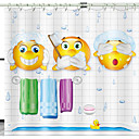 cheap Bathroom Gadgets-Shower Curtains & Hooks Modern Polyester Novelty Machine Made Waterproof