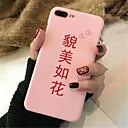 levne iPhone pouzdra-Carcasă Pro Apple iPhone X / iPhone 7 Plus Vzor Zadní kryt Slovo / citát Měkké TPU pro iPhone X / iPhone 8 Plus / iPhone 8