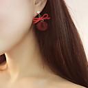 저렴한 귀걸이-여성용 드랍 귀걸이 귀걸이 버터플라이 리본장식 맛좋은 숙녀 한국어 보석류 블랙 / 그레이 / 레드 제품 파티 / 이브닝 선물 일상 데이트