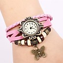 cheap Brooches-Women's Casual Watch Digital Casual Watch Leather Band Digital Casual Butterfly Pink - Pink