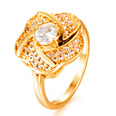cheap Women's Watches-Women's Cubic Zirconia Band Ring - Gold Plated Ladies, Fashion 7 / 8 / 9 Gold For Wedding Gift