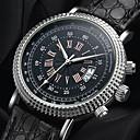 رخيصةأون أساور-YAZOLE رجالي ساعة كاجوال كوارتز جلد اصطناعي أسود / بني رزنامه ساعة كاجوال كوول مماثل موضة - أسود-أسمر أسود / أبيض أبيض / البيج