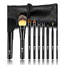 baratos Maquiagem & Produtos para Unhas-9pcs Pincéis de maquiagem Profissional Conjuntos de pincel Escova de Cabelo de Cabra / Escova Doninha / Pêlo Sintético Cabelo Cavalo Plástico