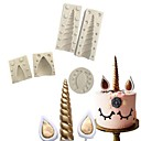 זול כלים וגאדג'טים לאפייה-כלי Bakeware סיליקון חג המולד 3D עשה זאת בעצמך לעוגה עוגות Moulds 5pcs