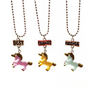 cheap Rings-Women's Pendant Necklace - Resin Elf Cartoon, Sweet Rainbow Necklace Jewelry Three-piece Suit For Gift, Daily