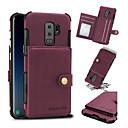 tanie Etui / Pokrowce do Samsunga Galaxy S-Kılıf Na Samsung Galaxy S9 Plus / S9 Etui na karty / Odporny na wstrząsy Osłona tylna Solidne kolory Twardość Skóra PU na S9 / S9 Plus / S8 Plus