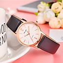 저렴한 여성용 시계-여성용 패션 시계 석영 가죽 블랙 / 화이트 / 블루 캐쥬얼 시계 아날로그 숙녀 패션 컬러풀 - 레드 핑크 실버 / 그레이