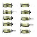 Недорогие LED лампы в форме свечи-10 шт. 3W 350lm G4 Двухштырьковые LED лампы T 1 Светодиодные бусины SMD 3528 Декоративная Тёплый белый Холодный белый 12V
