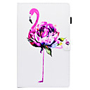 cheap Samsung Tab Series Cases / Covers-Case For Samsung Galaxy Tab E 9.6 Card Holder / with Stand / Flip Full Body Cases Flamingo Hard PU Leather for Tab E 9.6