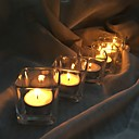 cheap Candles & Candleholders-Simple Style / Modern / Contemporary Glass Candle Holders 6pcs, Candle / Candle Holder