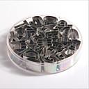 hesapli Musluklar-Bakeware araçları Paslanmaz Çelik + A Sınıfı ABS Pişirme Aracı Kurabiye / Çikolota Düzensiz Pasta Aletleri 26pcs