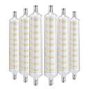 저렴한 LED 글로브 전구-YWXLIGHT® 6PCS 12W 1000-1200lm R7S LED 콘 조명 108 LED 비즈 SMD 2835 장식 따뜻한 화이트 220-240V
