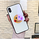 baratos Capinhas para iPhone-Capinha Para Apple iPhone X / iPhone 8 Estampada Capa traseira Desenho Animado Rígida Vidro Temperado para iPhone X / iPhone 8 Plus / iPhone 8