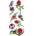 cheap Temporary Tattoos-1 pcs Tattoo Stickers Temporary Tattoos Flower Series Waterproof Body Arts Body / Arm / Shoulder