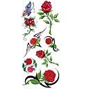 cheap Temporary Tattoos-1 pcs Tattoo Stickers Temporary Tattoos Flower Series Waterproof Body Arts Body / Arm / Shoulder