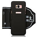 ieftine Carcase / Huse Galaxy S Series-Maska Pentru Samsung Galaxy S8 Plus / S8 Banderole sportive / Titluar Card / Anti Șoc Bandă de Mână Mată Moale PC pentru S8 Plus / S8