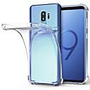 halpa iPhone kotelot-Etui Käyttötarkoitus Samsung Galaxy S9 S9 Plus Iskunkestävä Läpinäkyvä Takakuori Yhtenäinen Pehmeä TPU varten S9 Plus S9 S8 Plus S8