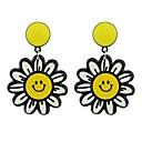 Χαμηλού Κόστους Σκουλαρίκια-Γυναικεία Κρεμαστά Σκουλαρίκια - Λουλούδι Μοντέρνα Κίτρινο Για Δώρο Ημερομηνία