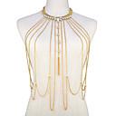 tanie Sandały ozdobne-Łańcuszek na brzuch Bikini, Modny Damskie Gold Biżuteria Na Wyjściowe / Bikini