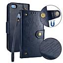 abordables Etuis / Couvertures pour Huawei-Coque Pour Huawei P10 P10 Lite Porte Carte Portefeuille Clapet Magnétique Coque Intégrale Couleur Pleine Dur faux cuir pour P10 Lite P10
