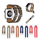 Недорогие Крепления и держатели для Apple Watch-Ремешок для часов для Apple Watch Series 4/3/2/1 Apple Классическая застежка Натуральная кожа Повязка на запястье
