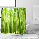 cheap Bathroom Gadgets-Shower Curtains & Hooks Casual Country Polyester Solid Colored Novelty Machine Made Waterproof Bathroom