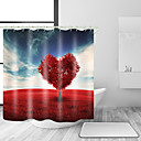 cheap Bathroom Gadgets-Shower Curtains & Hooks Modern Country Polyester Contemporary Novelty Machine Made Waterproof Bathroom