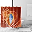 hesapli Banyo Gereçleri-Shower Curtains & Hooks Barroco Rococo Polyester Solid Yenilik Makine Yapımı Su Geçirmez Banyo