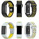 hesapli Sony İçin Kılıflar / Kapaklar-Watch Band için Fitbit Charge 2 Fitbit Spor Bantları Milan Döngüsü Silikon Bilek Askısı