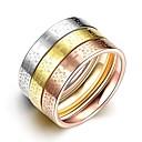 levne Galaxy J pouzdra / obaly-Pánské Boxer Nerezové Fashion Ring Šperky Světle hnědá Pro Denní Street 7 / 8 / 9 3ks