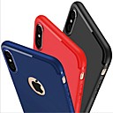 Funda Para Apple iPhone X iPhone 8 iPhone 6 iPhone 7 Plus iPhone 7 Congelada Funda Trasera Color sólido Suave Silicona para iPhone X