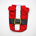 cheap Dog Clothing & Accessories-Dogs / Cats / Pets Vest Dog Clothes Christmas / American / USA / Cartoon Red Cotton Costume For Pets Female Party / Holiday