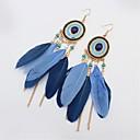 ieftine Ceasuri Damă-Turcoaz Cercei Picătură Leaf Shape Pană femei Vintage Modă Amerindian Reșină Pană cercei Bijuterii Rosu / Verde / Bleumarin Pentru Concediu Ieșire