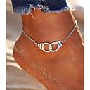 tanie Makijaż i pielęgnacja paznokci-Łańcuszek na kostkę - Alphabet Shape Vintage, Artystyczny, Modny Silver Na Wyjściowe / Bikini