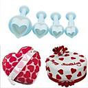 hesapli Fırın Araçları ve Gereçleri-Bakeware araçları Plastik Yaratıcı / Kendin-Yap Kurabiye / Çikolota / Pasta kek Kesici / Pişirme ve Pastacılık Araçları 4adet