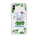 billige iPhone-etuier-Etui Til Apple iPhone X / iPhone 8 Plus Mønster Bagcover Tegneserie / Elefant Blødt TPU for iPhone X / iPhone 8 Plus / iPhone 8