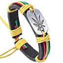 preiswerte Armbänder-Herrn Lederarmbänder - Leder Blattform Grundlegend, Modisch Armbänder Kaffee / Regenbogen Für Zeremonie Strasse
