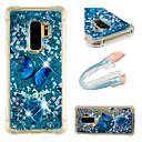 hesapli Cep Telefonu Süsleri-Pouzdro Uyumluluk Samsung Galaxy S9 / S9 Plus Şoka Dayanıklı / Akan Sıvı / Temalı Arka Kapak Kelebek / Işıltılı Parlak Yumuşak TPU için
