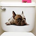 זול סטיקרים לקישוט-מדבקות למקרר מדבקות לשירותים - מדבקות קיר חיות 3D סלון חדר שינה מקלחת מטבח חדר אוכל משרד
