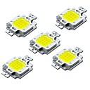 hesapli LEDler-ZDM® 5pcs Yüksek Güçlü Ampul Aksesuarı LED Çip Aluminyum / Saf Altın Tel LED DIY LED Taşkın Işık Spot için 10W