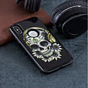 저렴한 아이폰 케이스-케이스 제품 Apple iPhone X / iPhone 8 충격방지 / 엠보싱 텍스쳐 / 패턴 뒷면 커버 해골 하드 PC 용 iPhone X / iPhone 8 Plus / iPhone 8