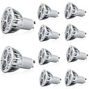 preiswerte LED-Kolbenbirnen-10 Stück 6 W 400 lm GU10 / E26 / E27 LED Spot Lampen 3 LED-Perlen Hochleistungs - LED Dekorativ Warmes Weiß / Kühles Weiß 85-265 V / RoHs