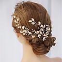 رخيصةأون أمشاط الشعر-نسائي بسيط قماش سبيكة مكعب زركونيا أغطية الرأس مواعدة أزياء Cosplay - ورد