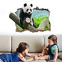halpa Sisustustarrat-Koriste-seinätarrat - 3D-seinätarrat Animal Wall Tarrat Eläimet 3D Olohuone Makuuhuone Kylpyhuone Keittiö Ruokailuhuone Työhuone /