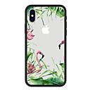 abordables Coques d'iPhone-Coque Pour Apple iPhone X / iPhone 8 Plus Motif Coque Plantes / Flamant / Bande dessinée Dur Acrylique pour iPhone X / iPhone 8 Plus / iPhone 8